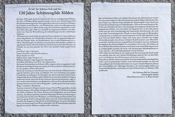 Chronik vom Oberschützenmeister Bruno Fender